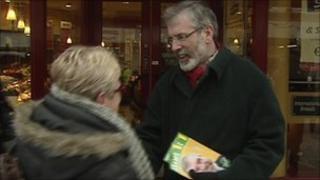 Gerry Adams was campaigning in Drogheda