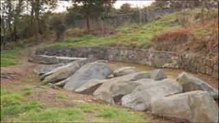 Neolithic stones in Delancey Park