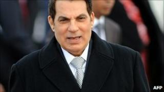 Former Tunisian President Zine al-Abidine Ben Ali (file image)
