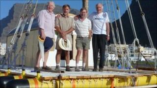 Raft and crew
