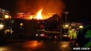 The barn fire at Langton Matravers