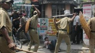 File photo of Indian policemen
