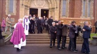 The funeral of Dr Raymond McClean