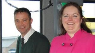 Guernsey bus driver Stephen Rushton and Island Coachways managing director Hannah Beacom