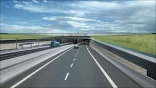 A computer graphic of the proposed Fehmarnbelt tunnel, from the Danish side (image: courtesy Femern A/S)