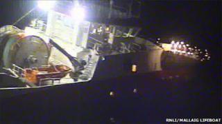 Mallaig lifeboat image of Jack Abry II on Monday night. Pic: RNLI