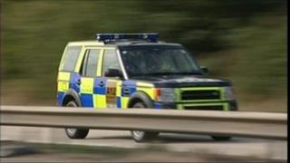 Essex police patrol car