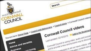 Cornwall Council website video page