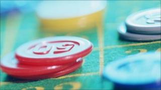 Gambling chips, Corbis