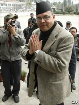 Jhalanath Khanal at parliament in Kathmandu on 2 February 2011