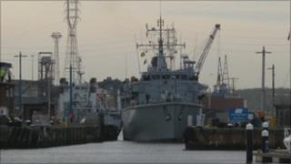 HMS Quorn in Ipswich