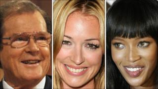 Roger Moore, Cat Deeley, Naomi Campbell