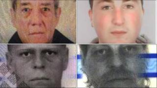 (Clockwise from top left) - Barry Haydon, Ivan Marshall, Nicholaas Sempel and Miquel Sempel