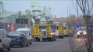 Blaze at recycling plant