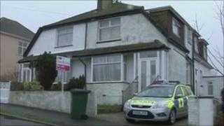House in Woodingdean where the woman's body was found