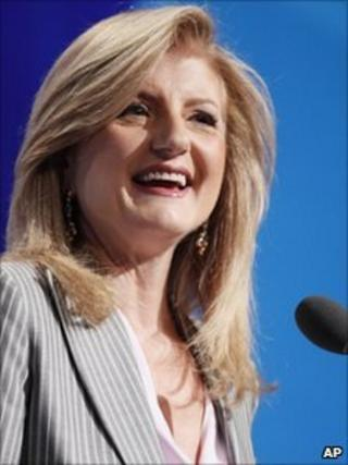 Arianna Huffington, co-founder and editor of the Huffington Post