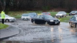 Cars caught in Londonderry floods