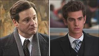 Colin Firth in The King's Speech and Andrew Garfield in The Social Network