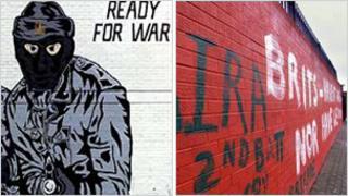 Loyalist and republican murals