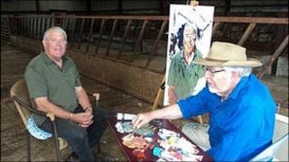 Rolf Harris and Hefin Jones