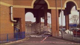 Damage at NHS building in Doncaster