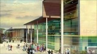 Artist's impression of the Trinity Walk project
