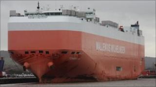 MV Tombarra at Royal Portbury Dock