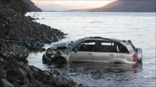 The car in Loch Ness