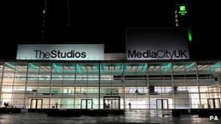The BBC's new studios in Salford