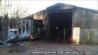 Aftermath of Whittlesey factory fire