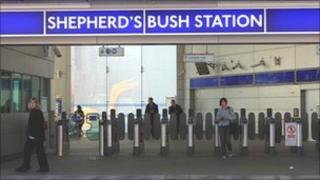 The entrance to Shepherd's Bush Tube station