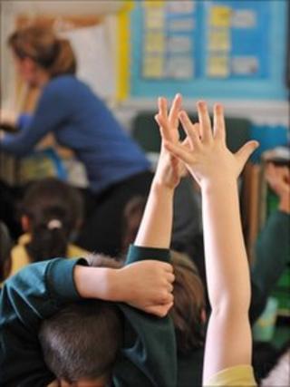 Pupils in classroom generic