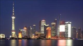 Shanghai skyline (picture courtesy of Scottish Development International)