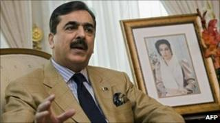 File pic of Prime Minister Yousuf Raza Gilani