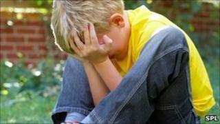 Unhappy boy