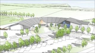 An artist's impression of the new school at Brynhoffnant