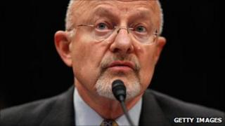 US intelligence chief James Clapper