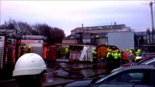 Scene at Pimlico Industrial Estate