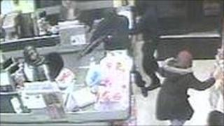 Armed robbery CCTV image