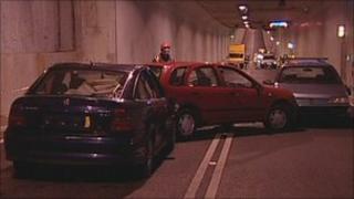 Emergency exercise inside the Tyne Tunnel
