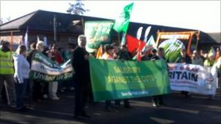 Protest in Salisbury