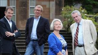 Bill Neely, Peter Taylor, Kate Adie and Martin Bell
