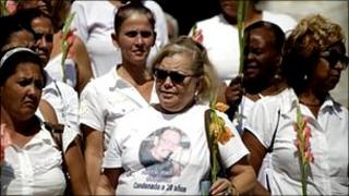 Hector Maseda's wife Laura Pollan and other members of the Ladies in White group.