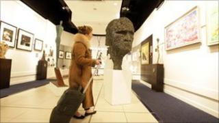 Art exhibition at Heathrow