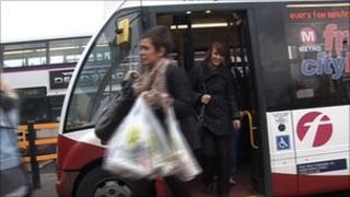 Free bus in Leeds