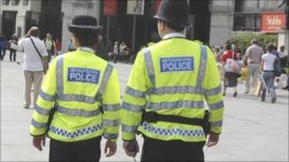Metropolitan Police officers on patrol