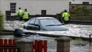 Flooding in Elgin