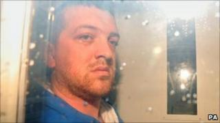 Carl Whant, 26, arriving at Caerphilly Magistrates' Court on Monday