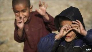 Afghan children, January 2011