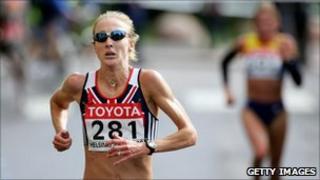 Long distance runner Paula Radcliffe